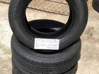SET OF 4 USED TIRES BridgeStone Dueler HT 2156516  	FOR