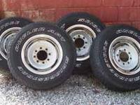 "For sale is a set of (4) Bridgestone ""Dueler APT"""