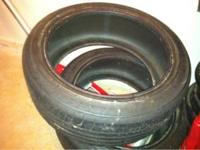 2 lightly used Bridgestone Potenza RA050A 225/45/R18.