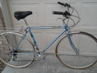 Roadbike converted to upright riding position and