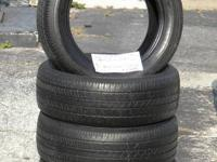 SET OF 4 USED TIRE Bridgestone Turanza 2055516  	FOR