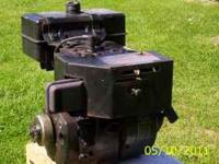 Briggs & Stratton engine, 6 HP with clutch. has on-off