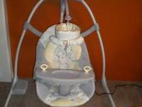 Bright Starts baby swing, like new only used maybe half