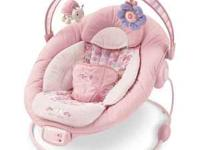 Bright Starts pink bouncer in mint condition, barely