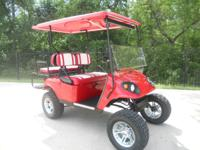 Comes with matching red extented top. Great cart for