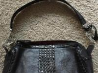 Brighton Black Leather Handbag. Pre Owned, Never Used.