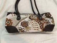 "Brighton canvas purse with bag.  14"" wide x 8"" tall ."