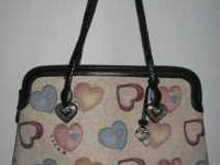 "A BRIGHTON ALYSSA ""HEARTS GALORE"" SHOULDER BAG,"