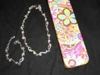 Brighton silver necklace and matching bracelet with