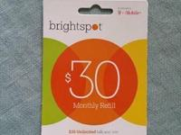 Hi I have Brightspot $30 refill card never used. I will