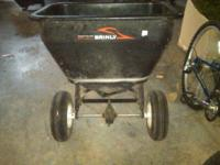 Cost $200 new. Brinly-Hardy Broadcast Spreader 175-Lb.