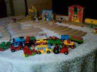 Includes Busytown train station, farm house, grocery