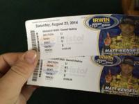 I've got 2 Bristol night race tickets. They are 109$ a