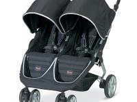 The Britax B-AGILE Double Stroller incorporates the
