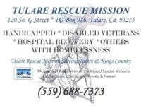 Tulare Rescue Mission - 501C3 120 S. G Street, Tulare,