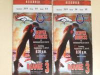 Season ticket holder selling  Denver Broncos vs