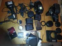 Two bodies, 3 lenses, flash and tons of accessories