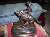 "For sale: Bronze statue- ""The Cowboy"" by Frederic"