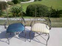 2 metal chair w/arms. $30 each $50 for 2. . Pictures