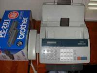 Brother Fax Machine (includes extra new cartridge) -
