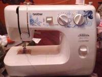 Slightly used Brother sewing machine. Featured from