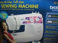Brother practically brand new sewing machine, very
