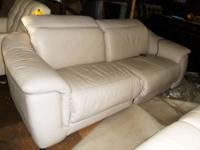 Nice all leather medium dark brown sofa. This great