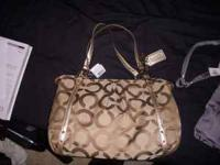 Brand New Coach Purse Large, Brown The card of proof of