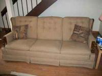 older style couch, EXCELLENT shape, like new!! brown in