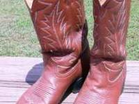 Brown cowboy boots Mens size 9 1/2. These are all