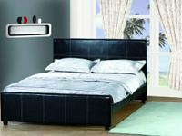 LEATHER LIKE QUEEN DIMENSION BED ONLY $ 129.00.