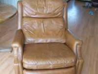 Brown Leather Barcalounger. $50.00, please call Melissa