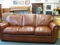 We have real nice, comfortable, and clean leather sofa.
