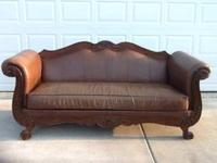 We have this brown leather sofa for sale. We are asking