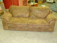 I have a brown microfiber sofa. It is structually