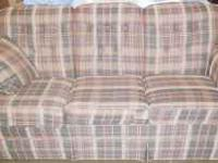 Brown plaid sofa. Great condition! $100 or BEST OFFER.