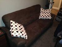 I bought this couch about 3 months ago, it's a brown 3
