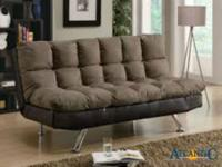 The two-tone mix of brown microfiber with luxurious