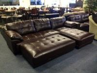 Uptown S7115 Sectional. Covered in authentic adhered
