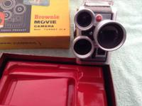 Vintage Kodak Brownie 8mm movie camera, with original