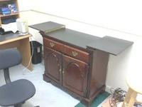 used excellent condition buffet/serving table  //