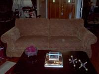 Mint condition Broyhill couch and oversized chair.