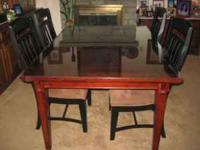 Browhill dining room table with 6 chairs. Vantana
