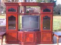 Broyhill Entertainment center, cherry finish, real