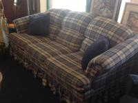 Broyhill Plaid Couch, AS IS. $80.00.  , if interested