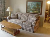 We have a BROYHILL Sofa $225.00 and a matching Seat