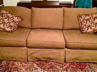 Deep and huge Couch, Chair and a half with Ottoman.