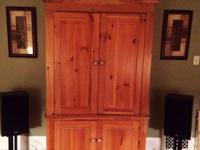 Immaculate TELEVISION Armoire and entertainment center
