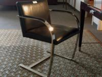 Used Bruno Flat Bar Chair: Versatile real leather