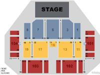 Section 104, Row 8, Seats 29-30 - 2 tickets - $150/each